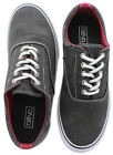 Crevo Misfit Men's Washed Canvas Sneakers Shoes Memory Foam Preppy