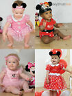 Baby Toddler Deluxe Minnie Mouse Costume Girl Disney Fancy Dress Up Outfit Child