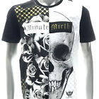 m341w Minute Mirth T-shirt Sz S M L XL Tattoo LTD SPECIAL TECHNIQUE Skull Foil