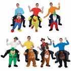 Mens Shoulder Carry Me Piggy Back Ride On Adult Fancy Dress Costume Party Outfit