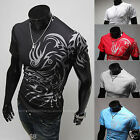 Fashion New Short Sleeve T-Shirts Men Sports Tees Slim Design Bottoming Shirt