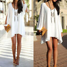 White Women Sexy Playsuit Party Evening Summer Casual Mini Dress Shorts Romper