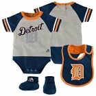 Infant Detroit Tigers Creeper Set 'Lil Player Bodysuit Bib Booties MLB Baby