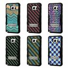 For Galaxy S7 Edge TUFF Hybrid Stand Rubber Hard Case Black Black 7Colors