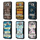 For Galaxy S7 Edge TUFF Hybrid Stand Rubber Hard Case Black Black 5Colors