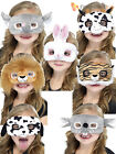 Child Plush Animal Eyemask Boy Girl Zoo Farm Fancy Dress Accessory Book Week Day