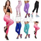 Women 3/4 Length Capri YOGA Fitness High Waist Cropped Legging Trousers