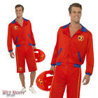 "FANCY DRESS COSTUME # MENS 80s BAYWATCH MALE WITH LONG SHORTS SIZE 38""-44"""