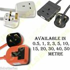 1 GANG 13A EXTENSION LEAD 0.5 1 2 3 5 10 15 20 30 40 50 METRE WHITE/BLACK/ORANGE