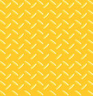 CONSTRUCTION METAL PLATE YELLOW NOVELTY SEWING CRAFT QUILT FABRIC *Free Oz Post
