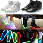 High Top Luminous Sportswear USB Charging LED Light Lace Up Unisex Sneaker Shoes