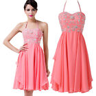 Sleeveless Chiffon Gowns Cocktail Homecomming Evening Prom Party Dresses 8 Size