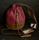 NWT Authentic Ugg Australia Bucket Bag Purse Suede Leather WDS005 Sangria $225