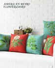 Lovely Cute Rural Plant Flower Pillow Case Cushion Cover Square Linen Sofa Decor