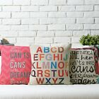 Modern Colorful Exotic Alphabet Pillow Case Sofa Decor Cushion Cover Square 17""