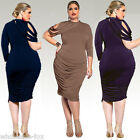 Plus Size Sexy Womens Summer Bandage Bodycon Party Evening Cocktail Prom Dress