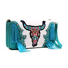 New Women Handbag Trifold Faux Leather Wallet Zip Card Holder Bag Purse Fringe