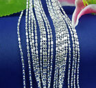 """Wholesale 10pcs 925 Sterling Silver Plated 1.5mm Bamboo Chain Necklace 16""""-30"""""""