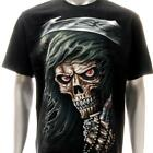 r185 Sz M L Rock Eagle T-shirt Tattoo Skull Ghost Demon Devil Horror Halloween