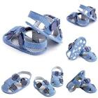 Toddler Infant Sandals Baby Boy Girl Blue Summer Soft Sole Crib Shoes Size 0-18M