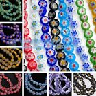 8mm Crystal Millefiori Glass Charms Lampwork Loose Spacer Beads Lot Free Ship