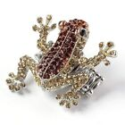 Fashion Crystal Rhinestone Frog Cuff Bangle Braclet Elastic Finger Ring Jewelry