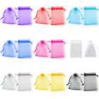 100 Organza Bags Wedding Favour Pouches Jewellery Mesh Party Drawstring Gift