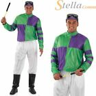 Mens Jockey Costume Horse Racing Adult Fancy Dress