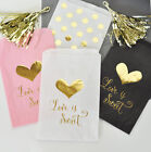 Love Is Sweet Gold Foil Candy Buffet Bags Wedding Favors