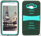 ARMY GREEN & TURQUOISE U-Case Hybrid Cover Case for Samsung Galaxy Grand Prime