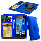 Clip On PU Leather Flip Wallet Book Case Cover For Nokia Lumia 520
