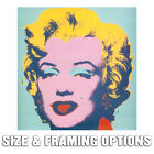 ANDY WARHOL MARILYN MONROE MODERN POP ART CANVAS PRINT CHOOSE SIZES OR FRAMING
