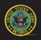 US ARMY RETIRED HAT PATCH RETIREMENT GIFT USA MILITARY BADGE VETERAN QUILT WOW