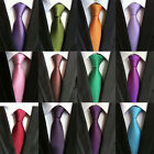 20 COLOR Classic Mens Ties Silk Necktie Solid Creases Stipres Woven JACQUARD Tie