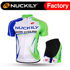 003 Nuckily Men's Mountain Bike Sports Short Sleeves Cycling Jersey+Shorts Set