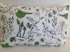 SINGLE OBLONG CUSHION COVERS GREEN WHITE BIRD CONTRY STYLE MADE WITH IKEA FABRIC