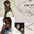 Retro Leaf Flower Shape Hairpin Hair Clips Cuff Pony Tail Holder Wedding Acc