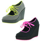 Volatile Clownin Women's Wedge Platform Maryjane Shoes Sneakers