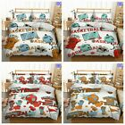 9 Piece Baby Nursery Bedding Set Cartoon Theme Crib Cot Quilt New Doona Linen