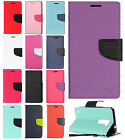 For LG K10 Premium Leather Two Tone Wallet Pouch Flip Case Phone Cover Accessory