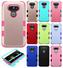 For LG G5 Rubber IMPACT TUFF HYBRID Case Skin Phone Cover + Screen Protector