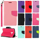 For Kyocera Hydro Reach Premium Leather 2Tone Wallet Case Pouch Flip Phone Cover