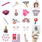 Cards Ballons Hairband Garter Crown Willy Straw Glasses Hen Party Girls Night