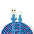 NTJ 3FT LONG Flat Braided Charger Cable for MICRO USB samsung galaxy s6+ edge s7