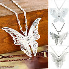 GIFT Women Butterfly Pendant Necklace Silver Plated Gift Alloy New M11910