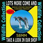 DOLPHINS SWIMMING - PART OF OUR WILDLIFE COLLECTION 58 MM BADGE-FRIDGE MAGNET