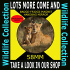 MOTHER & BABY LION- PART OF OUR WILDLIFE COLLECTION 58 MM BADGE-FRIDGE MAGNET