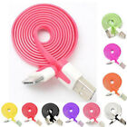 NTJ 6FT Flat Noodle data Charger power Cable cord for iPhone 4 4s 3 iPod Nano 6