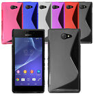 Ultra Slim Soft Wave Gel Case Soft Phone Back Cover For Sony Xperia M2 & Screen