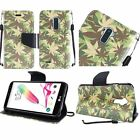 LG Stylo 2 Design Wallet Credit Card ID Slot Stand Flip Phone Case Cover LS775